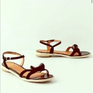 Anthropologie Tess Bow Strap Sandals